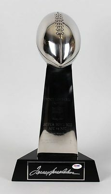 Pittsburgh Steelers – Terry Bradshaw Signed Super Bowl XIII Replica Trophy – ...