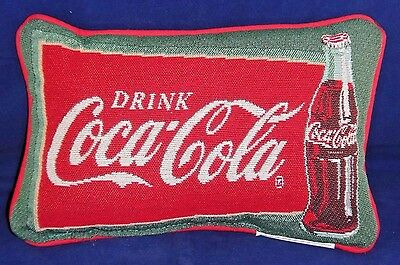 Drink Coca-Cola Pillow ~ NEW ~ Tapestry Vintage Feel