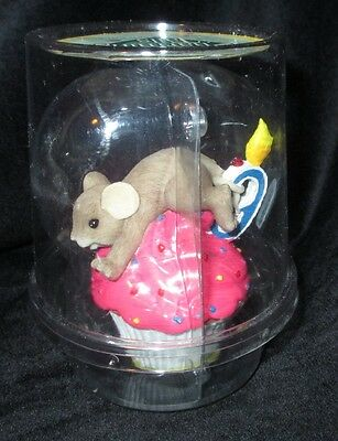 Enesco Fitz and Floyd Charming Tails Birthday #9  Cupcake Mouse Mice Figurine