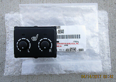 08-13 Toyota Highlander Front Driver & Passenger Side Heated Seat Switch Oem New