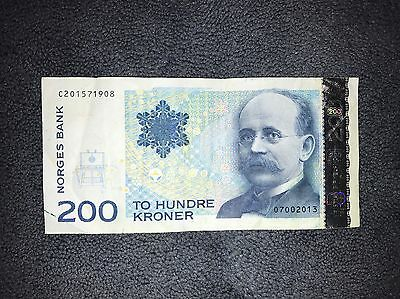 200 Kroner NORWAY Banknote ������������ World Money, Foreign Currency