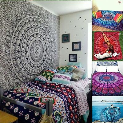 27 Styles Indian Mandala Bedspread Hippie Tapestry Twin Wall Hanging Throw Decor