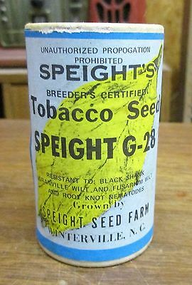 Vintage Speight's Tobacco Seed 1978 Cardboard Container Full Winterville NC