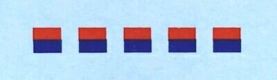 Dinky-Spares | 689 Medium Artillery | 4mm Signs Red/Blue | Horizontal Decals