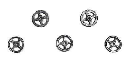 Dinky-Spares | 5 Dinky steering wheels 100 Series | Racing Cars White Metal