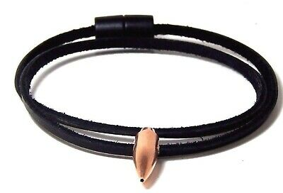 Sniper Hog Tooth Necklace  Black Leather  Break Away Barrel Clasp Handmade, Usa