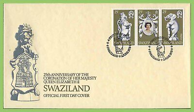 Swaziland 1978 Coronation set on First Day Cover