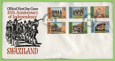 Swaziland 1978 10th Anniversary of Independence set on First Day Cover