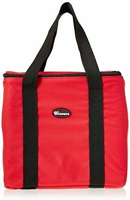 """Pizza Delivery Bag 12"""" x 12"""" x 12"""" Durable Polyester Kitchen Food Supplies Red M"""