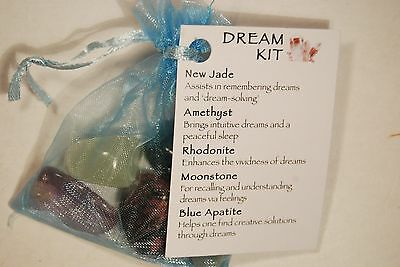 DREAM KIT 49g Healing Crystal Pack Tumbled Stones Organza Bag