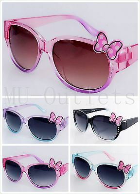 New Kids Rhinestone Kitty Sunglasses For Girls Ages 3-10 Children (#F059K)