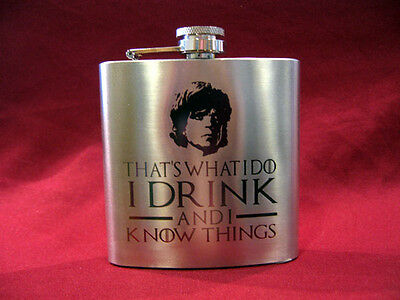 Engraved 6oz. Stainless Steel Hip Flask - Game of Thrones - Tyrion