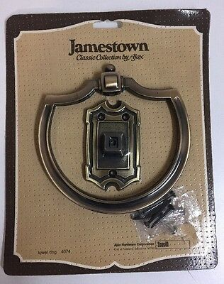 New Vintage Brass Ajax Jamestown Classic Collection Scovill Towel Ring Holder