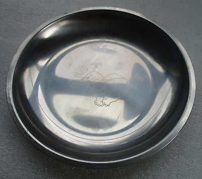 Stelton 18/8 Stainless Steel Youth Baby Collectible Plate Dish Elephant Denmark