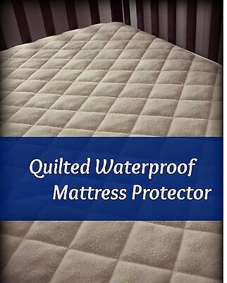 Micro Percale Waterproof Mattress Protector 4Ft Cot Bed Single Double King Sk