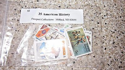 American History Stamp Pictorials Collection - 35 Different Large Stamps