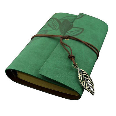 Vintage Leaf Leaves Loose-leaf Blank Pages Notebook Travel Journal Diary Size L