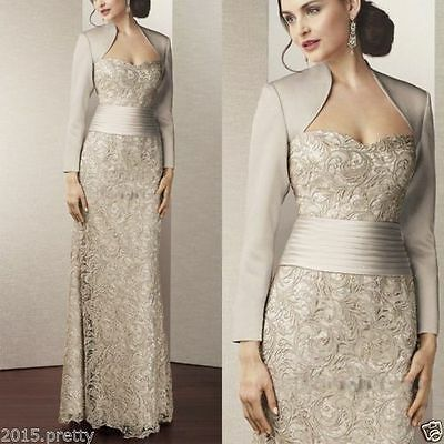 Mother of the Bride/Groom Lace Wedding Dress Party Formal Evening Gown Custom