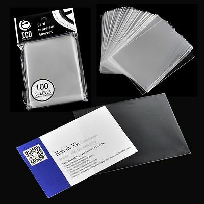 100pcs/pack 65*90mm CPP Matrial Clear Dustproof Card Sleeves Transparent