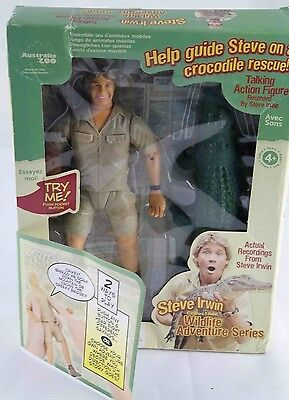Steve irwin collectible Adventure series talking toy  figure New w box damage