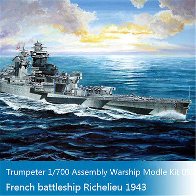 Trumpeter 05750 1/700 French Battleship Richelieu 1943 Plastic Warship Model Kit