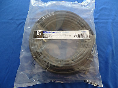 HDMI CABLE 15M (Contractor Series) BLACK - MALE TO MALE WITH HIGH SPEED CONNECT