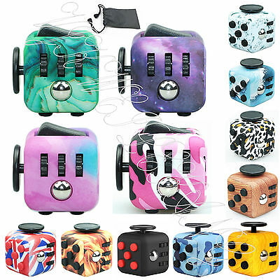 UK Fidget Cube A Vinyl Desk Toy Adults Stress Relief Cubes Toy Children Desk Toy