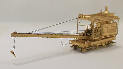 HOn3 BRASS OMI AMERICAN HOIST & DERRICK DITCHER CAR WITH CRANE BOOM