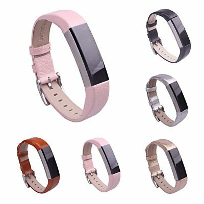 Colorful Luxury Leather Wrist Strap Watch Band Buckle For Fitbit Alta Tracker