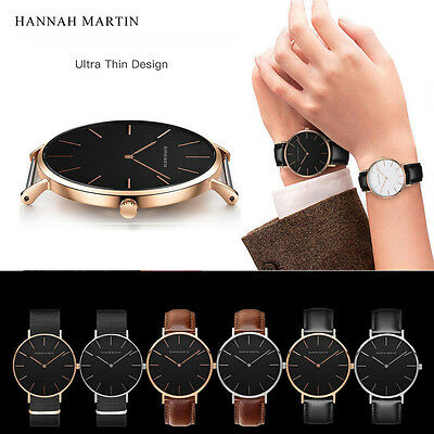 Luxury Men's Military Sport Leather Watch Stainless Steel Analog Quartz Watches