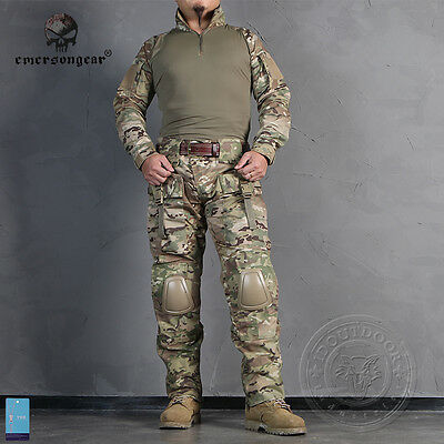EMERSON Combat BDU Military Airsoft Paintball Professional Uniform MultiCam 2711