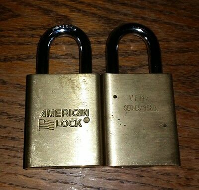 "(2) American Lock 3560WO 1-3/4"" Padlock with best cylinder"