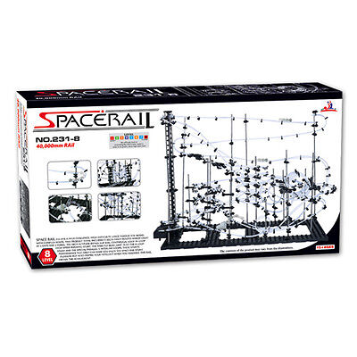 SpaceRail 231-8 Level 8 Steel Marble Run Roller Coaster kit with 40,000mm rail
