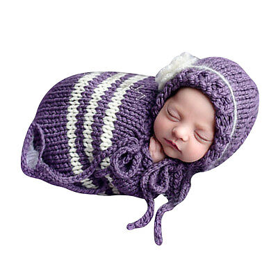 NewBorn Baby Child Crochet Knit Costume Clothes Photo Photography Prop Hat Cute