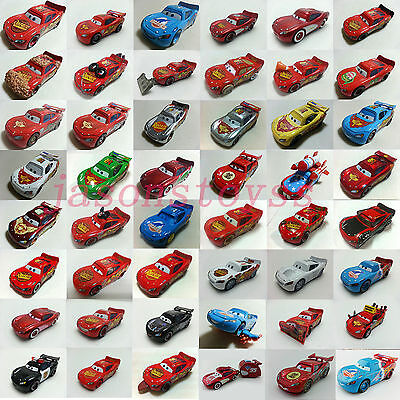 Mattel Disney Pixar Cars No.95 Lightning McQueen Toy Car 1:55 Loose In Stock