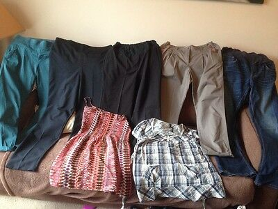 maternity bundle trousers and tops size 8, 10, 12
