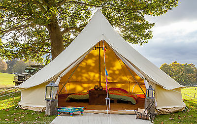 100% 4m FIREPROOF 360 gsm  Bell Tent with Zig by Bell Tent Boutique. BS Rated.
