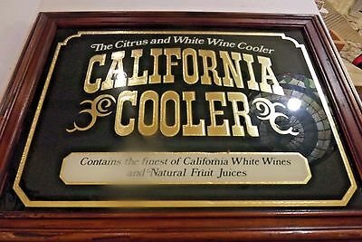 California Cooler Wood Framed Bar Advertising