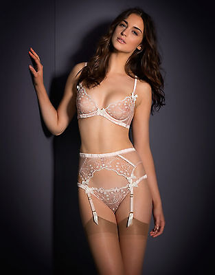 Nwt Agent Provocateur Ambrose Suspender And Thong Set Lace Garter Belt Panties