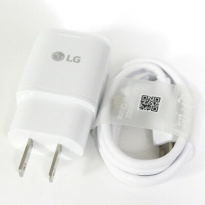 OEM GENUINE Adaptive Rapid Fast Charging Charger for LG V20 G5 Nexus 5X 6P Cable