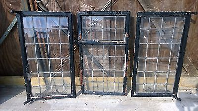 Vintage Crittal Windows All 510 Mm X 915 Mm With Leaded Glass