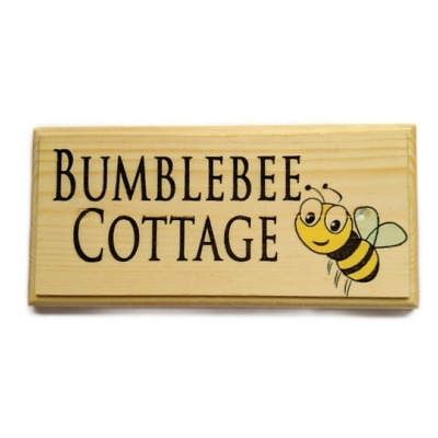 Personalised Bee Plaque / Sign - Garden Bumblebee Grandad Nanny House Summer