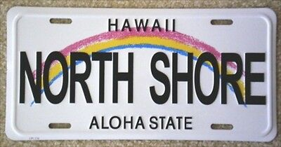 "Hawaiian ""NORTH SHORE"" Novelty License Plate from Hawai"