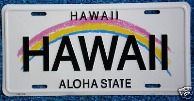 "Hawaiian ""HAWAII"" Novelty License Plate from Hawaii"