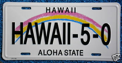 "Hawaiian ""HAWAII-5-0"" Novelty License Plate from Hawaii"