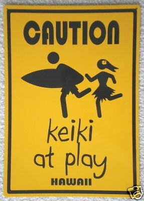 Keiki At Play Caution Aluminum Decorative Warning Sign Watch for Children