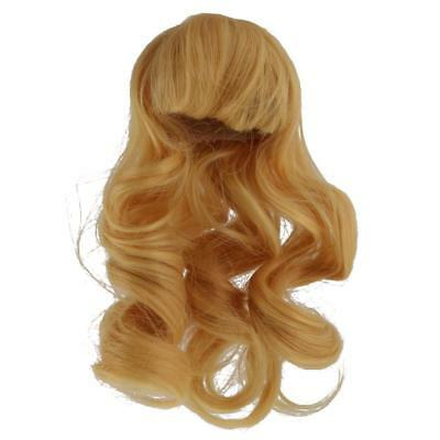 Long Wave Curly Hair Wig Hairpiece for 1/4 BJD SD Dolls Accessories - Blonde