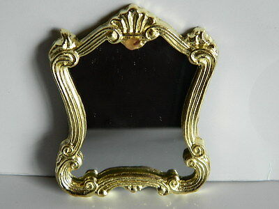 (M7.23) Dolls House Metal Framed Victorian Style Mirror