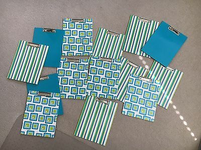 """Lot of 14 colorful Clip Boards 9""""  X 12""""  gently used but great condition"""