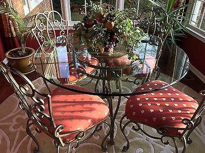 Glass Table Wrought Iron